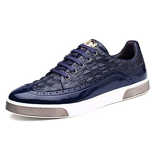 Basket mode homme soulier plat chaussure nubuck Bleu