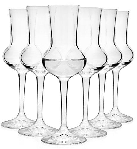 Bormioli Rocco Grappaglas, Glas, Transparent, cm, 5, 1 x 16, 5 cm, 1 Einheiten