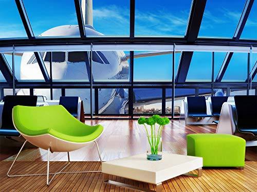 Fototapete Flughafen Luftfahrt 3D Landschaftsbild Tv Sofa Hintergrund Wand Wohnkultur Benutzerdefinierte Beliebige Größe - Kostenlose Horror Wallpaper