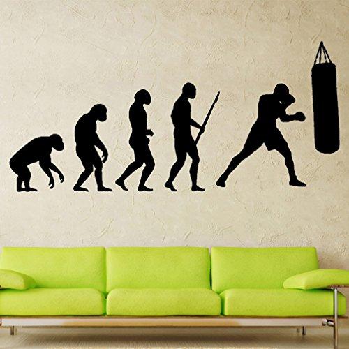 Petansy Boxing Hall Home Wandtattoo PVC Art Aufkleber Sport Boy Girl Teen Wandaufkleber (B) (Sport Teen Girl)