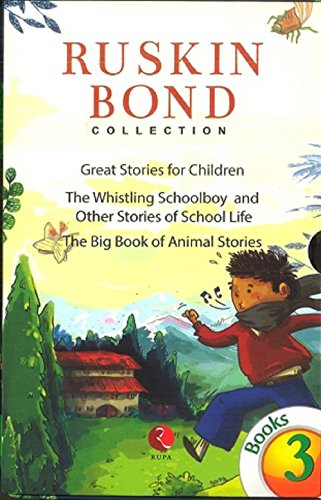 Ruskin Bond Collection- 3 books Box set- Great Stories for child, whistling schoolboy, big book anim