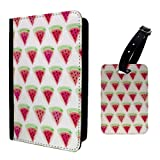 Wassermelone Print Design Muster Gepäckanhänger & Passport Halter–P1224