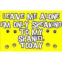 Déjame en paz sóio habio a mi perro Terrier hoy - Imán eposgear regalo/regalo