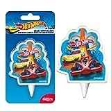 Dekora-346219 Vela de Cumpleaños 2D Coches de Hot Wheels, Multicolor (346219)