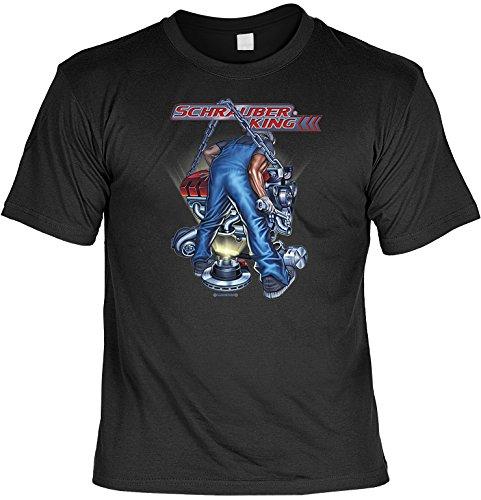 Unbekannt Witziges Sprüche Fun T-Shirt : Schrauber King (Mechaniker Kostüm Männer)