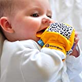 Gummee Glove Teething Mitten Yellow for 3+ Month Babies with Chewable Silicone Ring and Travel Bag - UK Award Winning Design Bild 5