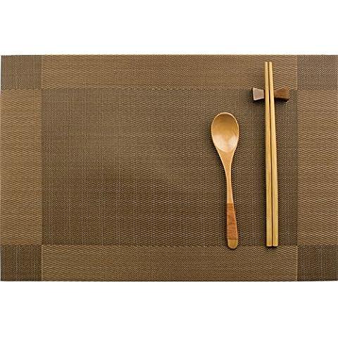 manteles continental-a prueba de calor/ Almohadilla occidental/Estilo japonés simple aislamiento impermeable pad/ Plato pad-D