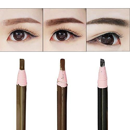 Vococal® 6 Pcs Bois Étanche Noir Marron Crayon Sourcils Maquillage Cosmétique Long Lasting Make Up Outil
