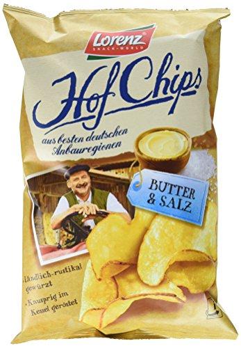 Lorenz Snack World HofChips Butter und Salz, 12er Pack (12 x 110 g)