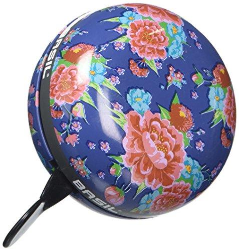 Basil Big Bell Bloom Fahrradklingel Blue with Flowers 80 mm
