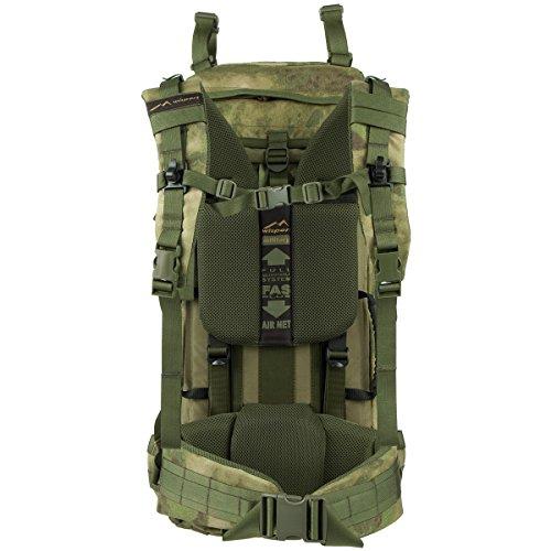 WiSPORT® RACCOON 85 Rucksack | 85 Liter | Militär | Cordura | MOLLE | Marschrucksack | Outdoor | Camping 18. 45 Liter A-Tacs FG