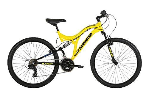 51gQ%2BDF9BEL - Barracuda Unisex Draco Ds Wheel 18 Inch Full Suspension Frame Mountain Bike, Yellow, 26