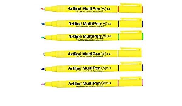 Artline 1.0mm Bullet Tip Pastel Multi Pen White// Pastel Pink// Pastel Orange//