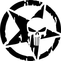 Vintage Punisher Hotrod Stern Auto Aufkleber Us Army Usa Militär Emblem