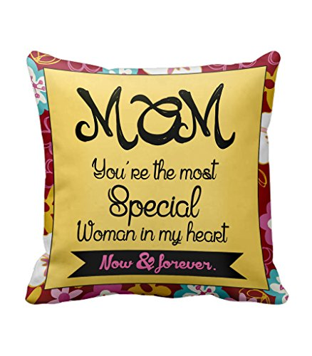TiedRibbons® Gifts For Mom Birthday Gift For Mom From Daughter Gifts For Mom Cushion Cover with Filler (12 Inch x12 Inch)  available at amazon for Rs.299