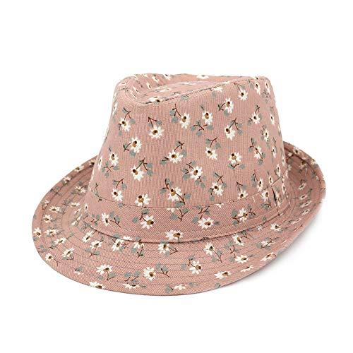Jazz Hut Sonnenhut Top-hat Sonnenschutz Sommer Hüte Outdoor Strand für Mädchen (Pink) ()