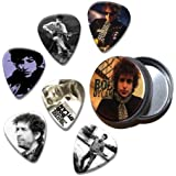 Bob Dylan Set of 6 Loose Púa Para Guitarra in Tin ( Collection B )