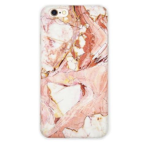 iPhone 6/6s/7/Plus Coque, Matte [Marbre Motif] lisse souple Sensation durable [Soft TPU], [la technologie d
