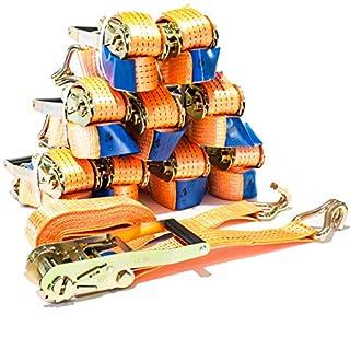 4 Stück Spanngurt 4t 4m 4000 daN kg Zurrgurte LKW Anhänger Ratsche Ratschengurt Ratschenspanngurt Ladung SPARSET/TÜV/GS geprüft