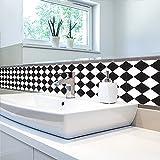 GOUZI 3D noir et blanc minimaliste et surfaces wallpaper accueil astuces de décoration 45*90m mural amovible pour chambre à coucher salle de séjour salle de bains mur arrière-plan Étude de Coiffure...