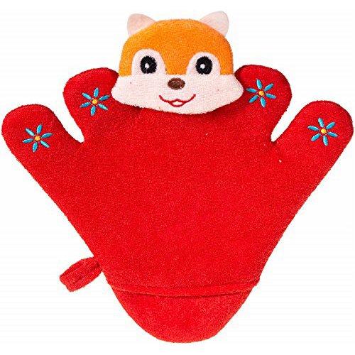 Bieco 04003062 - Waschhandschuh/Handspielpuppe, ca. 24,5 x 22 x 1,5 cm, rot