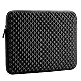 Custodia Laptop, Evecase Diamante Schiuma Neoprene Laptop Sleeve borsa/Borsa da Viaggio per Chromebook / Ultrabook / Notebook / PC / Computer Portatile 15-15.6 pollici - Nero