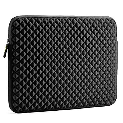 Evecase 15.6 inch Laptop Sleeve Slim Diamond Foam Neoprene Universal