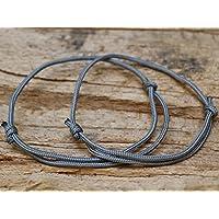 2x Surferarmband - Partnerarmbänder - grau