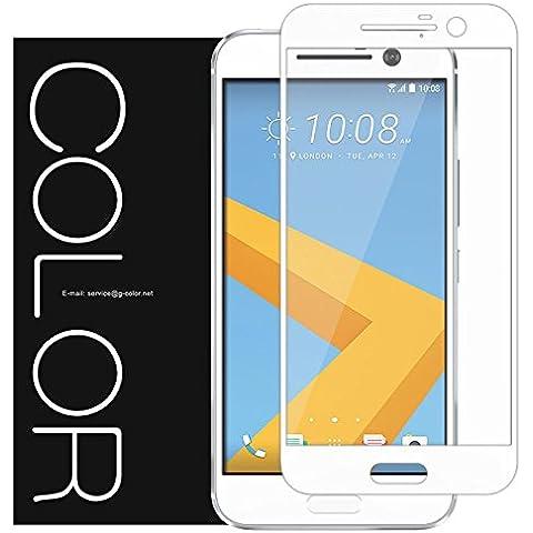 HTC 10Protector de pantalla, cobertura total, g-color Protector de pantalla de cristal templado [0,2mm, 2.5d] [sin burbujas] [Dureza de 9H] [resistente a arañazos] para HTC