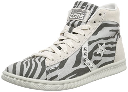 Converse - Pro Leather Lp Mid Can Zip Pri, - Unisex – Adulto Panna/Grigio
