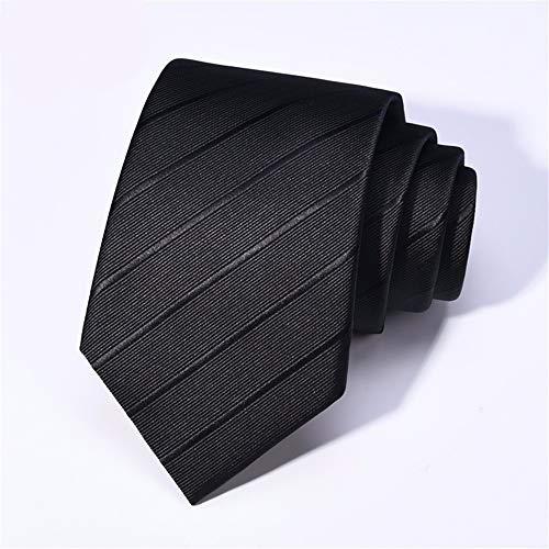 WUNDEPYTIE Tie Suit Business Career to Work Solid Color Korean Version of The Simple Striped Gift Box Groom Wedding Tie, Black Solid Black Bow Tie