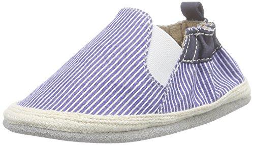 Robeez Summer Camp, Chaussures de Naissance bébé garçon, Bleu (Bleu/Blanc), 23/24 EU