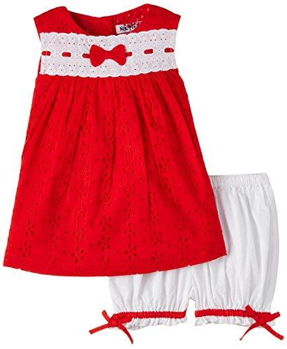 Nauti Nati Baby Girls' Dress (NSS15-22_Red_18 - 24 months)