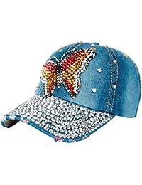 HaiDean Sombrero De Gorro De Béisbol para Gorro Mujer De Modernas Casual Béisbol  Sombrero De Mezclilla 4d1523f8daf