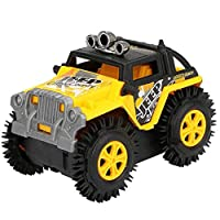 sunnymi Electric Toy Car, Off-Road Climbing Rotation Stunt Car Vehicle Model Dump Truck Four-Wheel Drive - Boy Girl Kids Gift