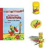 Der kleine Drache Kokosnuss Schul-Set: Buch
