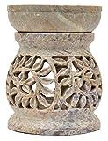 Artist Haat Duftlampe 11cm Pflanzenranke Schlingpflanze bauchförmig Speckstein Duftstövchen Wohnaccessoires
