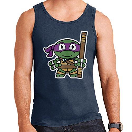 Mitesized Donatello Teenage Mutant Ninja Turtles Men's Vest Navy Blue