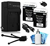#3: (2 Pack) PhotoMate NP-FW50 FW50 Ultra High Capacity Rechargable Battery (1500mAh) + Rapid Home AC Wall Charger + Car Adapter + Euro Plug + Cleaning Kit + Mini Tripod for Sony Alpha A7 A7 II A7r A7s A3000 A3500 A5000 A5100 A6000 NEX-7 NEX7 NEX-6 NEX6 NEX-5 NEX5 NEX-3 NEX3 NEX-5R NEX5R NEX-5T NEX5T NEX-5N NEX5N NEX-3N NEX3N NEX-F3 NEXF3 NEX-C3 NEXC3 NEX-C5 NEXC5 SLT-A3