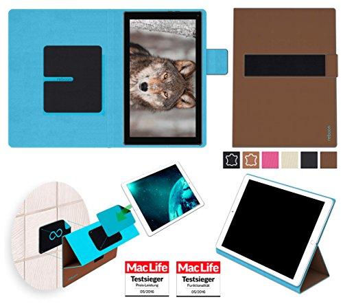 reboon Hülle für Blaupunkt Endeavour 101L Tasche Cover Case Bumper | in Braun | Testsieger