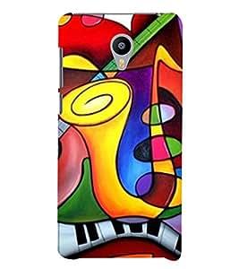 Print Masti Designer Back Case Cover for Meizu M3 Note :: Meizu Note 3 (Music Instruments Piyani Gitar )