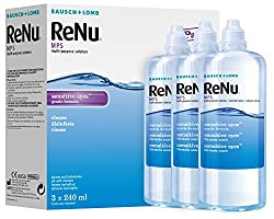 Bausch&lomb Renu Mps Multi- Purpose Solution For Sensitive Eyes 3x240ml (3 Months Supply)