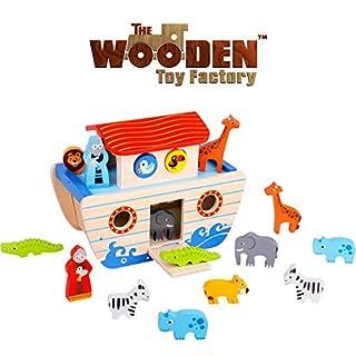 The Wooden Toy Factory - Noahs Arche Spielset Holzformsortierer - Lernspielzeug