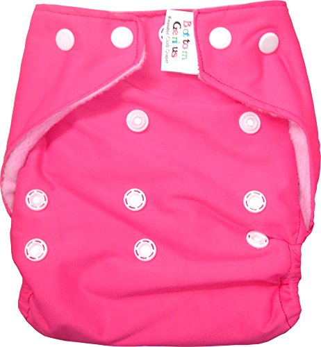 Bottom Genius Re usable Pocket cloth diaper cover with 100% cotton highly absorbing 6 layer Insert