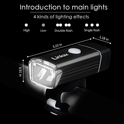 Zoom IMG-1 linkax luci per bicicletta led