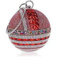 4319e2b8d YYDDT Mujer Bolsa De Embrague Diamante De Imitación Cristal Deslumbrante  Joya Piedras De Colores Bolsos Bandolera