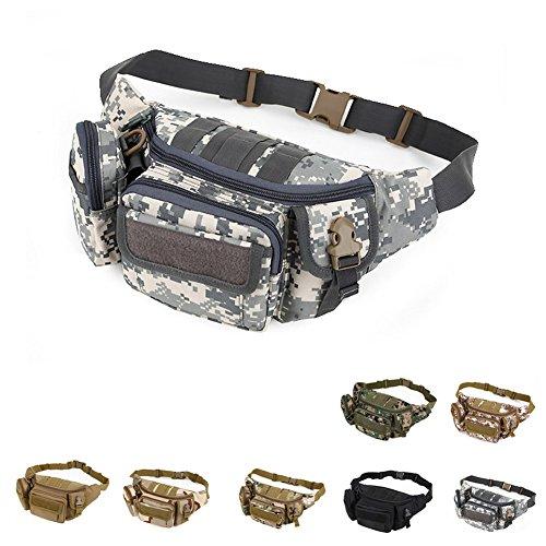 Katech marsupio multifunzionale uomini e donne esterni esecuzione tasche militare Tactical waist bag sacchetto per escursionismo, campeggio e trekking ACU digital
