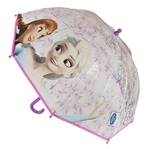 "45cm ""Disney Frozen Anna & Elsa Rosa Copo de Nieve"" Junior paraguas"