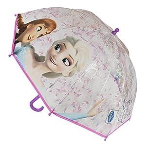 Cerdá Paraguas Infantil con diseño de Disney Frozen Anna y Elsa Snowflake, 45cm de diámetro Frozen 2400000208