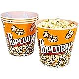 com-four secchio per popcorn 4x, ciotola per popcorn con una capacità di 2,8 litri ciascuno (04 pezzi)